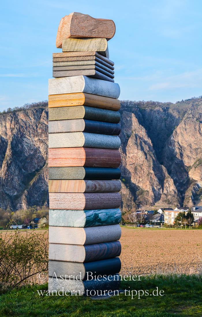 Am Rotenfels wandern: über die Felssteinwand im Nahetal