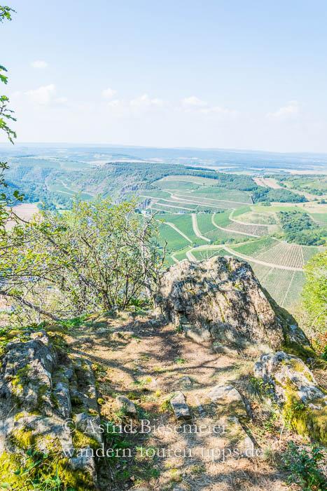 Wandern am Lemberg hat auch felsige Seiten
