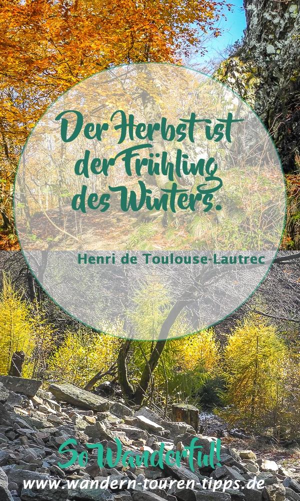 Taunus.Wandern macht den Herbst zum Frühling