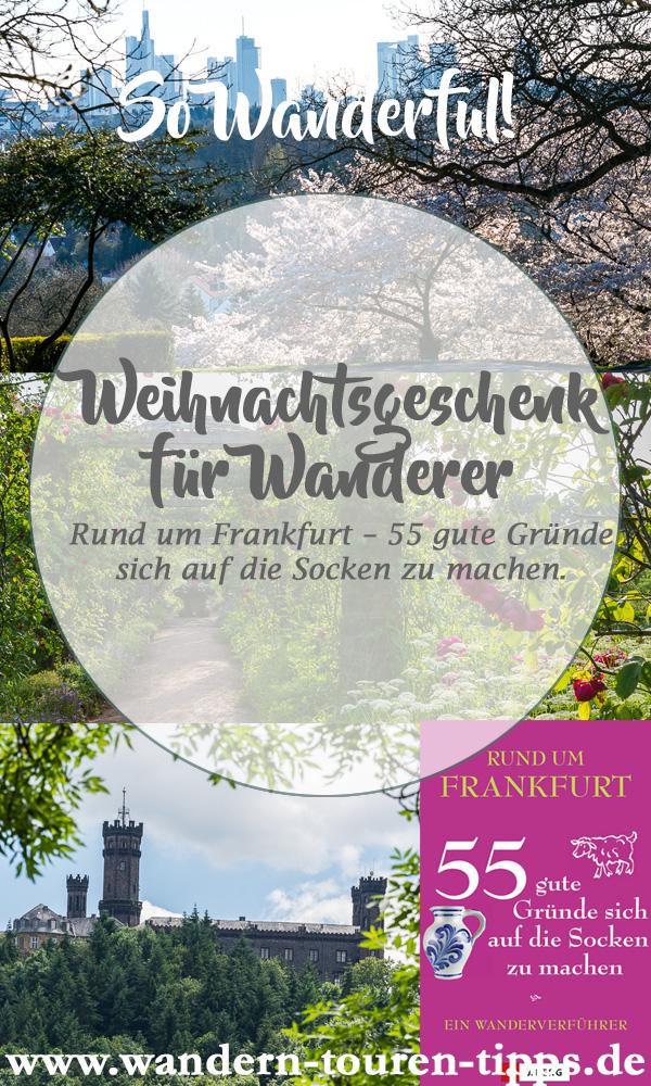 Weihnachtsgeschenk für Wanderer, Buch Wanderungen rund um Frankfurt