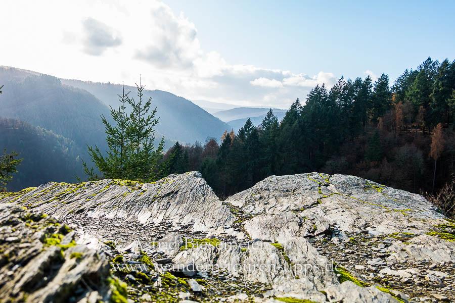 Auf dem Wispertalsteig wandern: Aussicht vom Mehrholzblick