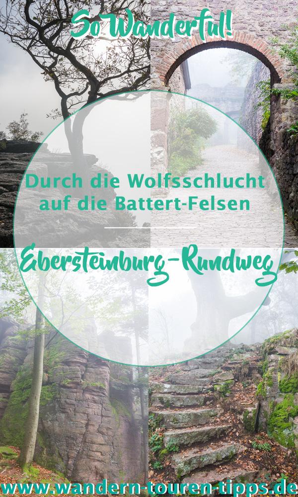 Schwarzwald wandern:durch Battert-Felsen & Wolfsschlucht bei Baden-Baden