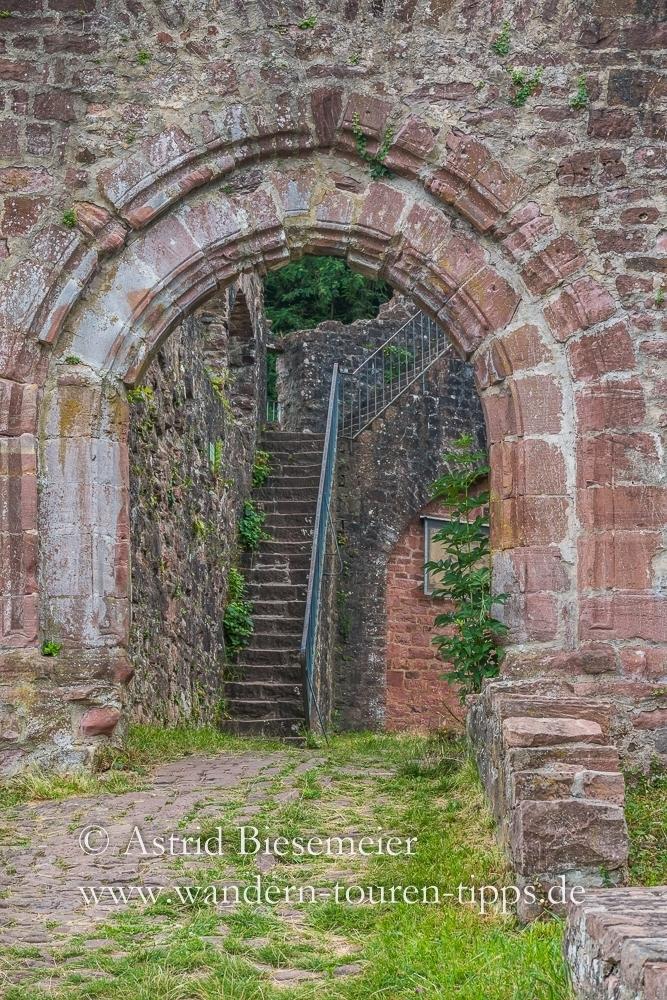 Auf Etappe 3 des Neckarsteigs liegt die Hinterburg. Die Ruine kann man besichtigen.