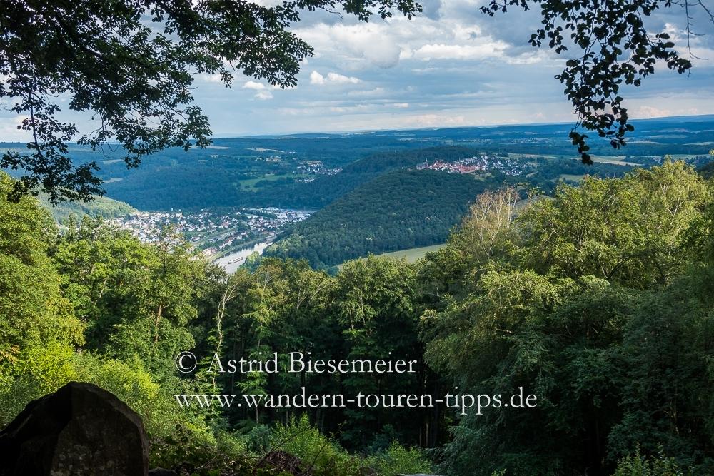 Herrlicher Aussichtspunkt auf Etappe 3 des Neckarsteig: der Goetheblick