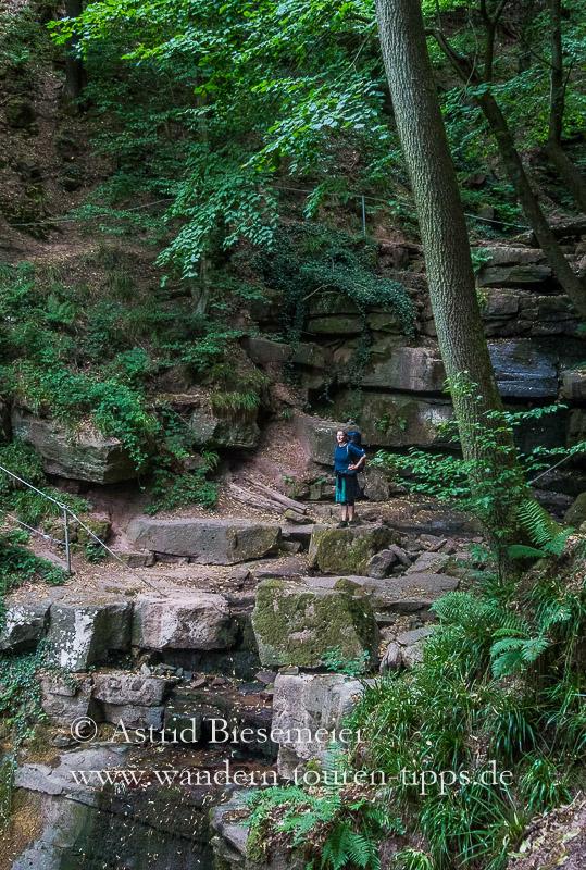 Auf Etappe 7 des Neckarsteig begeistert ein seltenes Fleckchen Erde: die Margaretenschlucht
